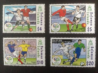Solomon Islands 2006 World Cup Football Set SG 1184-1187 MNH