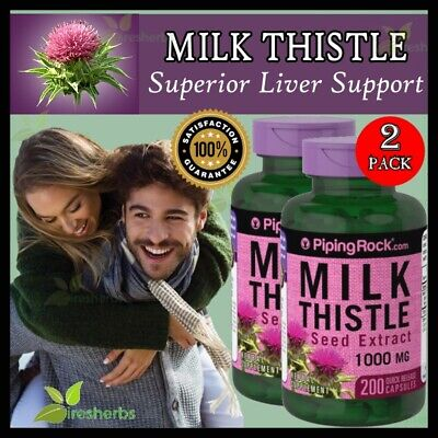 MILK THISTLE SEED EXTRACT 1000MG Liver Cirrhosis Hangover SUPPLEMENT 400 CAPSULE