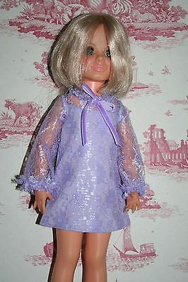 Fab Lilac Lace Dress For Ideal Crissy Sized Dolls