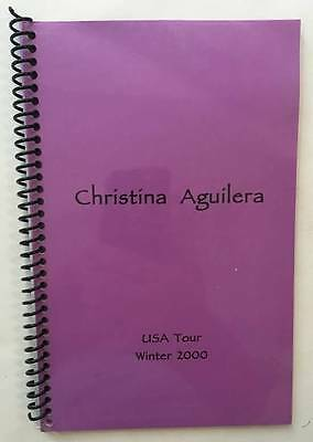 CHRISTINA AGUILERA Winter 2000 USA Tour Itinerary Book