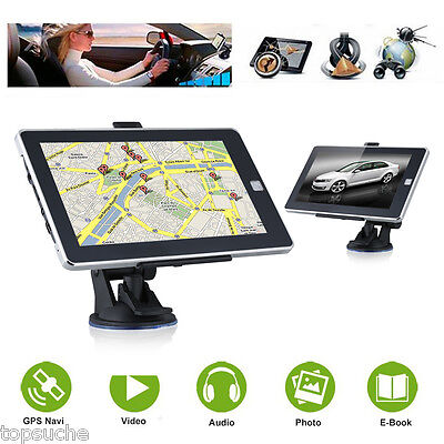 7'' Navigation Système Tactile TFT LCD GPS Navi 8Go FM MP3 Photo Voiture Camion