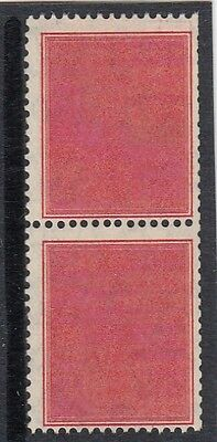 Stamps Australia 1937 red coil perforated tester pair MUH