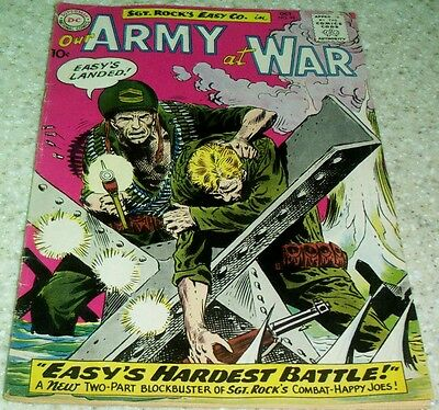 Our Army at War 99, (VF- 7.5) 1960 Kubert art! 40% off Guide!
