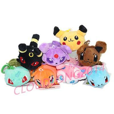 3.5'' TSUM TSUM Pokemon Eevee Charmander Squirtle Bulbasaur  Pikachu Sylveon Toy