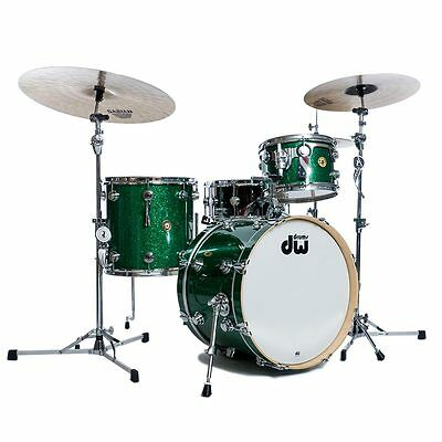 DW Jazz Series 3pc Drum Kit Shell Pack - Green Glass