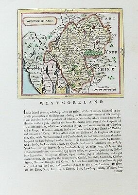 OLD ANTIQUE MAP WESTMORELAND c1780's by SELLER GROSE LAKE DISTRICT CUMBRIA