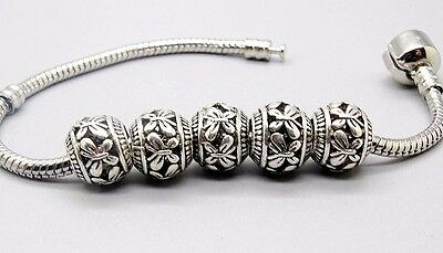 2PCS Beads Hunter Clip Bead Stopper Silver Charm Fit European Bracelets PD122