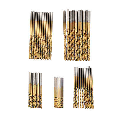New 50pc Metal Drill Bit Set HSS Metric Twist Drills 1mm-3mm Drill Bits ZA