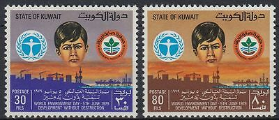 Kuwait 1979 ** Mi.836/37 Weltumwelttag World Environment Day
