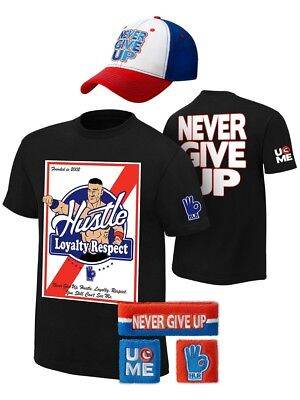 John Cena Kids Founded In 2002 WWE Costume Hat T-shirt Wristbands Boys