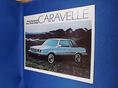 1983 Plymouth Caravelle Car Sales Brochure Two Door Coupe Options Features