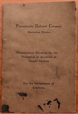 1913 Rule Book PRR Pennsylvania Railroad Company Prevention Accidents Stations