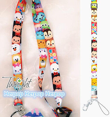 1pcs tsum mickey minnie Donald Duck Mobile Phone LANYARD Neck Strap Charms t-01