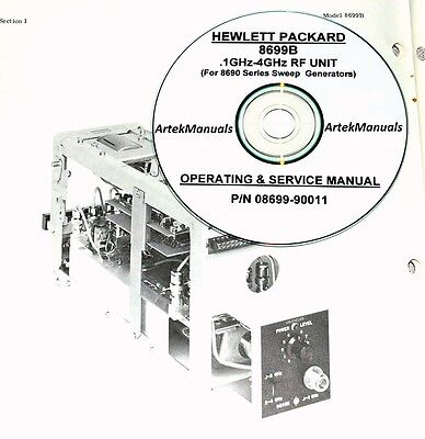 Hewlett Packard Operating & Service Manual for the 8699B RF Section Plug-In