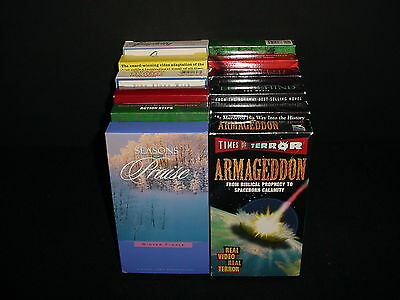 Lot of 12 Religious Christian Inspirational Video Tape VHS and Movies
