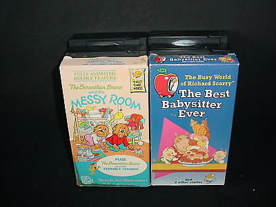 Lot of 6 Kids Childrens Cartoons Animated Video Tape VHS Movies Videos