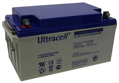 Ultracell UL65-12 : Batterie au plomb étanche 12V 65AH : 348x167x178mm
