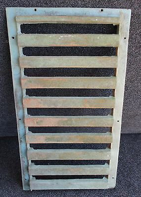 "CAST IRON PANEL / GRATE / GATE w/ GREEN VARIEGATED FINISH 12 1/2"" X 23"""