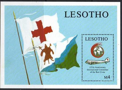 Lesotho 1989 125Th Anniversary Red Cross M/m Minisheet Cat £7