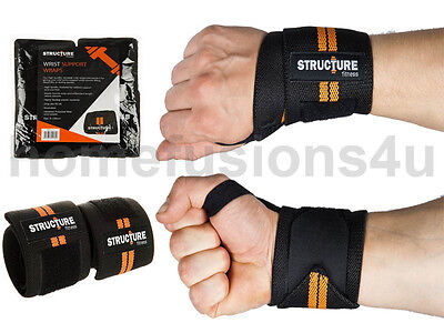 Sport Wrist Training Wrap Bands Thumb Support Brace Gym Workout Weight Lifting