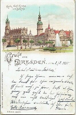 1900 Gruss Aus Postcard, Dresden, Germany.   Undivided back.