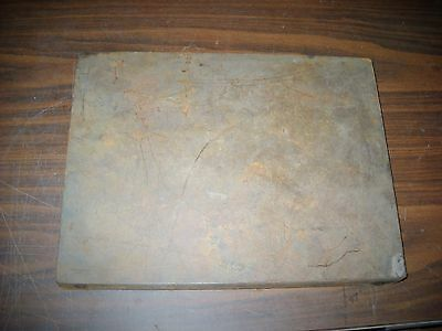 Surface plate cast iron machinist inspection surface plate bench top 40# 12X16X2