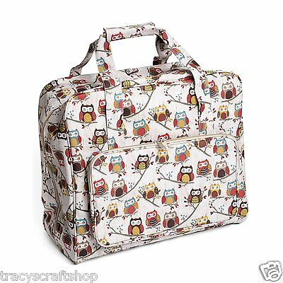 Sewing Machine Bag Sewing Machine Case Hoot Design PVC Sewing Machine Bag