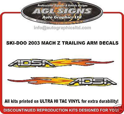 2003 SKI-DOO MACH Z TRAILING ARM DECAL KIT , reproductions