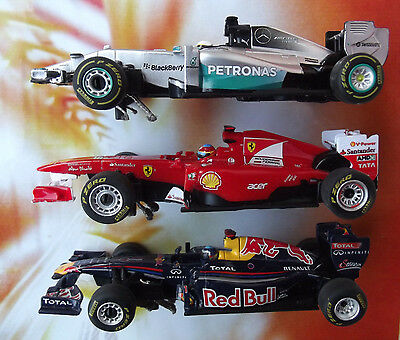 Carrera GO 3x F1 Set Mercedes  Red Bull  Ferrari  Rennbahn Autos Top