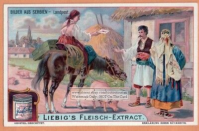 Serbia Woman On A Horse Delivering Mail NICE 1903 Trade  Card