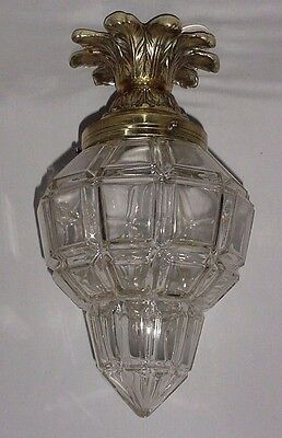 Antiq Bronze Ceiling Hanging Lighting  Sconce Lantern Crystal Globe Versailles