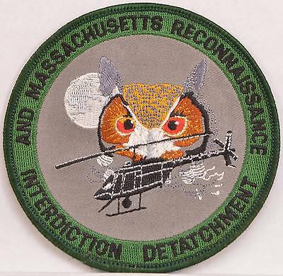 Embroidered National Guard Patch AND MA Reconnaissance Interdiction Detatchment