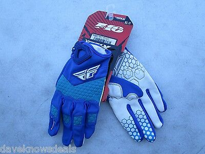 FLY racing F-16 motocross gloves men's size 11 EXTRA LARGE  367-91111 blue