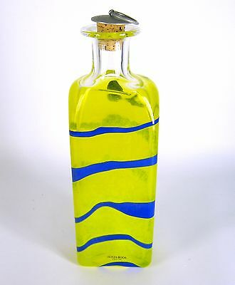 Kosta Boda Glas Flasche signiert Anna Ehrner Design Sweden Glass Bottle RARE