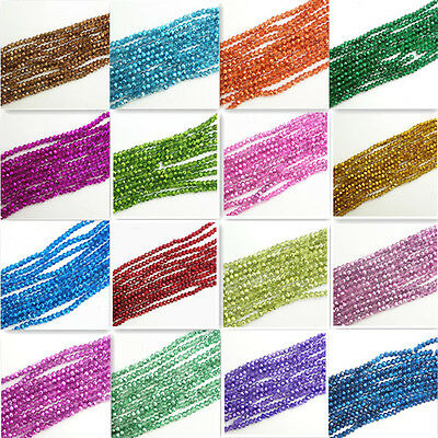Wholesale new 40pcs Rondelle Faceted Crystal Glass Loose Spacer Beads diy 8mm
