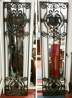 Fabulous Art Nouveau Tiffany Quality Bronze Pair Bank Doors With Hinges C-1890