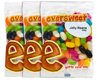 3 x Eversweet Jelly Beans 200g