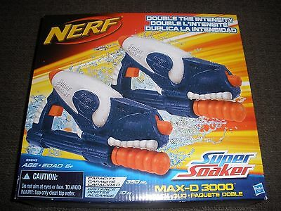 Brand New NERF Super Soaker MAX-D 3000 Water Pistol Rare 2 PACK