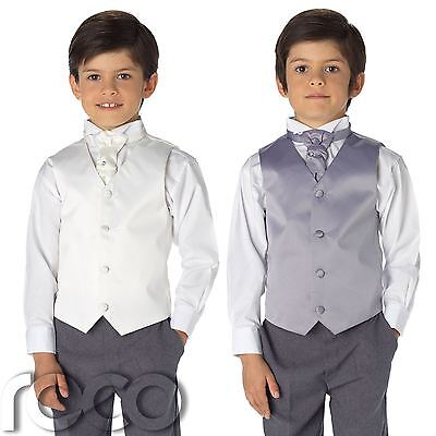 Boys Waistcoat Suit, Page Boys Suits, Boys Wedding Suit, Grey Trousers