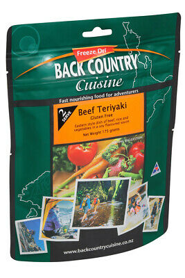 Back Country Cuisine Freeze Dried Food Beef Teryaki 2 Serve