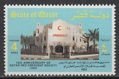 Qatar 1989 ** Mi.931 Roter Halbmond Red Crescent Gesundheit Health Hospital