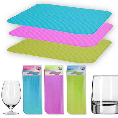 Washing Up Drying Mat Absorbent Towels Dish Kitchen Non Slip Drainer Sink Glass