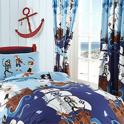 "SWASHBUCKLE PIRATES 66"" x 72"" LINED CURTAINS NEW KIDS"