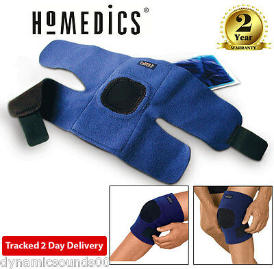 HoMedics MW-KHC-0EU Hot and Cold Magnetic Therapy Knee Wrap Support Blue/Black
