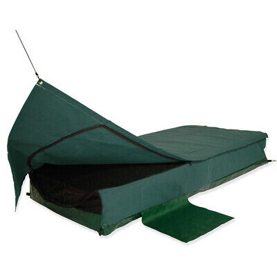 Sahara Traveller GREEN Deluxe DOUBLE Traditional Swag & Bag