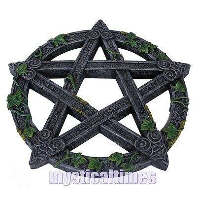 New * Pentagram * Wiccan Wicca Wall Plaque Decoration From Nemesis Now