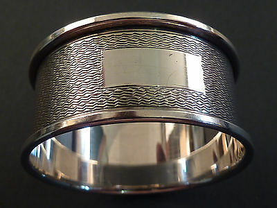 Circular Engine Turned Silver Napkin Ring