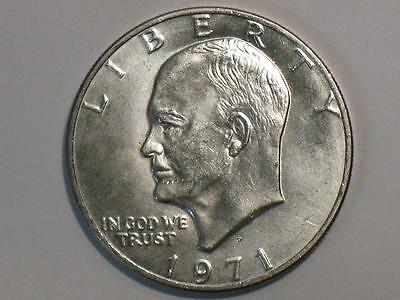 1971-S Eisenhower Dollar - 40% Silver Ike $ - Us Coin