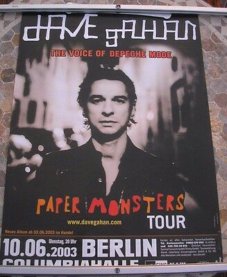 DAVE GAHAN (DEPECHE MODE) Paper Monsters  promo poster 34 x 23 2002 original