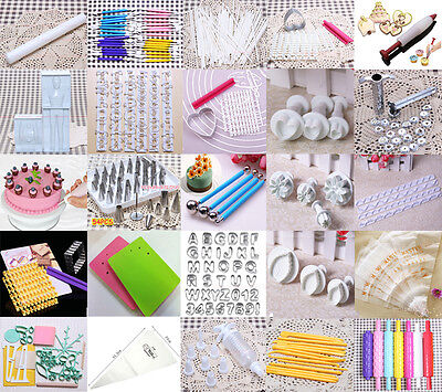 Various Fondant Cake Sugarcraft Gum Paste Decorating Modelling Cutter Tools XMAS